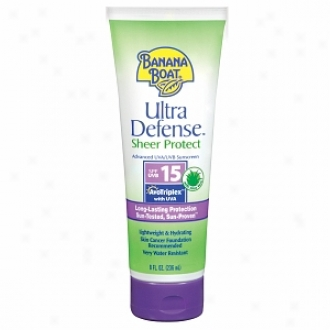 Banana Boat Ultra Defense Broad Spectrum Sunscreen Lotion, Spf 15
