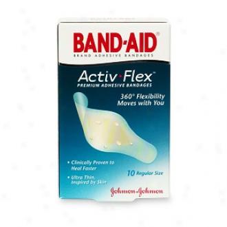 Band-aid Activ-flex Premium Adhesive Bandages, Regular