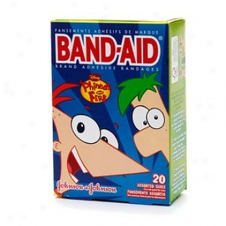 Band-aid - Children's Adhesive Bandages, Disney Phineas And Ferb, Ass0rted Sizes