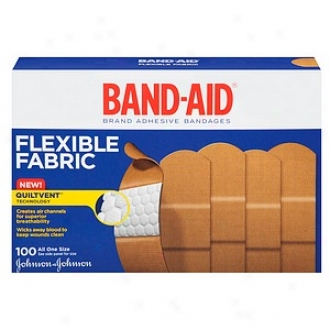 Band-aid Flexible Fabric Bandages, 1 Inch