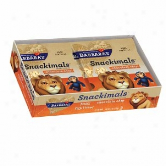 Barbara's Bakery Snackimals Animal Cookies, Snack Packs (1oz), Chocolate