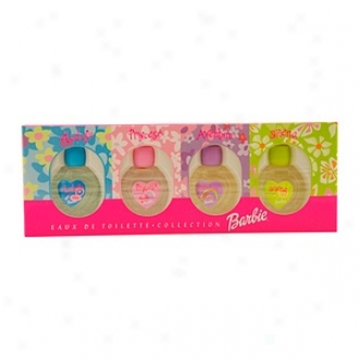Barbie 4pc Mini Variety Barbie Model, Princesa, Aventura, Sirena All Edt .2 Oz