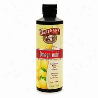 Barlean's Organic Oils Omega Swirl Omega-3 Fih Oil Supplement, Lemon Relish