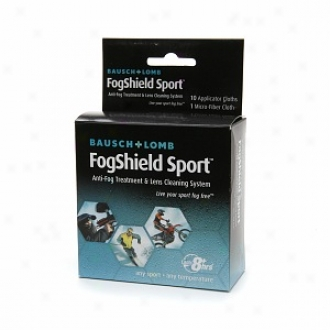 Bausch & Lomb Fogshield Sport Anti-fog Treatment & Lens Cleaning System, 10 Applicatoor Cloths &wmp; 1 Micro-fiber