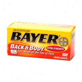 Bayer Aspirin Pain Reliever, Extra Strength Back & Body Pain, Caplets