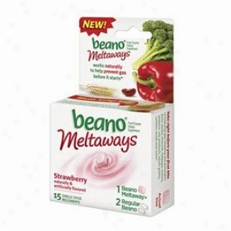 Beano Max Meltaways, Food Enzyme Dietary Supplement, Strawberry