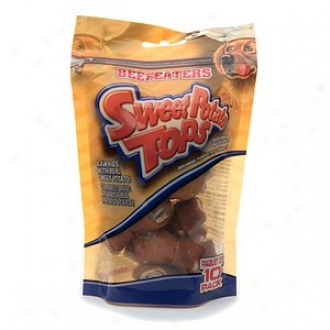 Beefeaters Sweet Potaog Tops Covered Rawhide Bones, 2.5 Inch