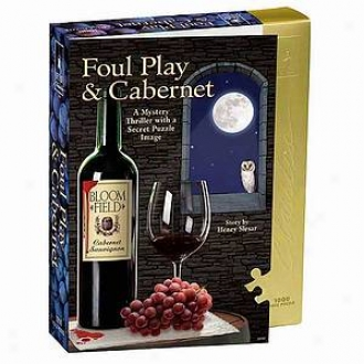 Bepuzzled Foul Play And Cabernet Murder Mystery Jgosaw Puzzle 1000 Pcs Ages 12+