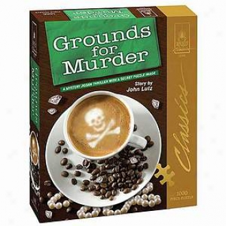 Bepuzzled Grounds For Murder Classic Mystery Jigsaw Puzzle Ages 12+