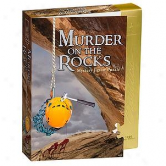 Bepuzzled Murder On The Rocks Classic Mystery Jigsaw Puzzle 1000 Pcs Ages 15+