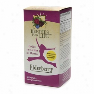 Berries For Life Ekderberry, Promotes Immune Health, Veggie Caps