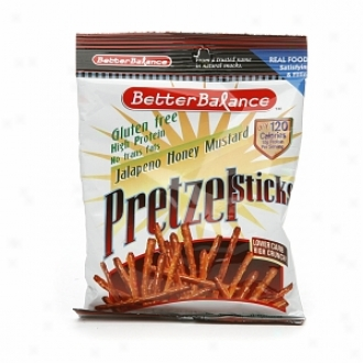 Better Balance Pretzel Sticks( 12 /1.5 Oz Packs), Jalapeno Honey Mustard
