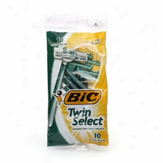 Bic Twin Select Impressible For Men, Disposable Shaver