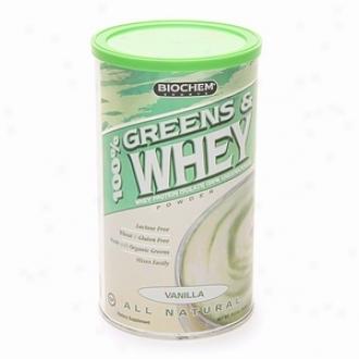 Biochem 100% Greens & Whey Protein Isolate Powder, Vnilla