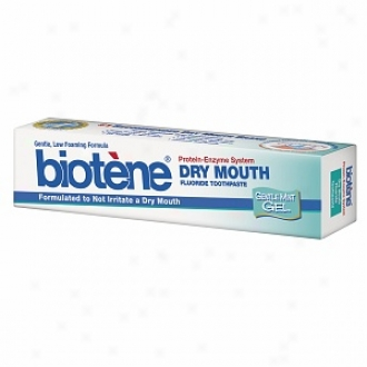 Biotene Dry Mouth Toothpaste With Bio-active Enzyme Protection, Gentle Gel, Mint