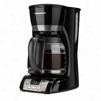 Black & Decker 12-cup Programmable Coffeemaker Model Dcm2160b, Black