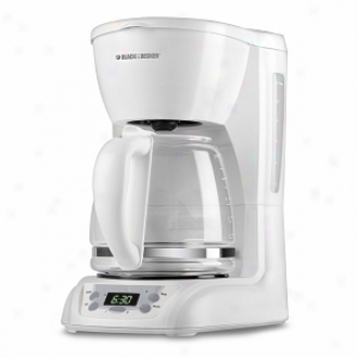 Black & Decker Dlx1050w 12-cup Programmable Coffeemaker, White