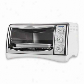 Black & Decker Perfect Broil Oven With Pizza Bump Model Cto4300w, White