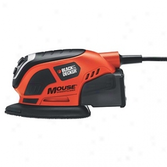Black & Decker Power Tools Mouse Detail Sander With Dust Collection Ms800b