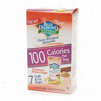 Blue Diamond Natural Almonds, 100 Calorie Bqgs, Cinnamon Brown Sugar