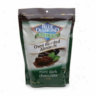 Blue Diamond Natural Oven Roasted Almonds, Bag, Mint Dark Chocolate