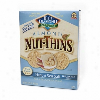 Blue Diamond Nut-thins Almond Nut & Rice Cracker Snacks, Hint Of Sea Salt