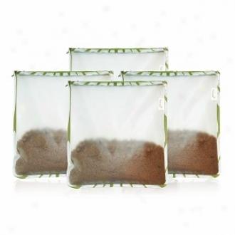 Blueavocado (re)zip Bulk 4 Pak, Reusable Storage Bags, Kiwi Wildflower