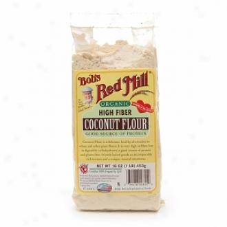 Bob's Red Mill Premium Organic High Fiber Coonut Flour, 4-16oz. Packs