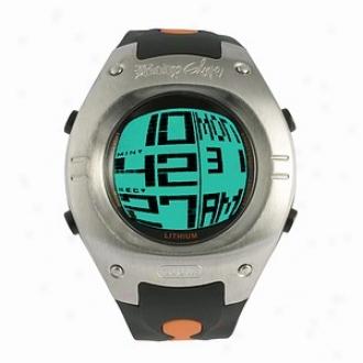 Body Glove Warpt Chronograph iDgital Watch, Black And Orange
