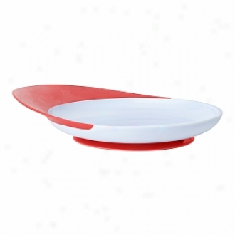 Boon Catch Plate Toddler Plate With Spill Catcher, 9m+, Light Purple/red