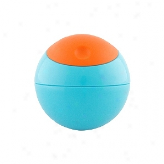 Boon Snack Ball Snack Container, 9m+, Blue Raspberry/tangerine