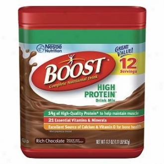 Boost High Protein Complete Nutritional Drink Mix, Vivid Chocolate