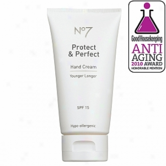 Boots No7 Protect & Perfect Hand Cream Sunscreen Spf 15