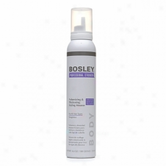Bosley Professional Strength Volumizign & Thickening Styling Mousse For Whole Hair Types, Medium Hold