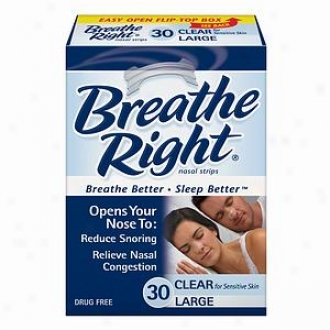 Breathe Right Nasal Strips, Large, Unobstructed