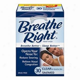 Breathe Right Nasal Strips, Small/mediym, Clear