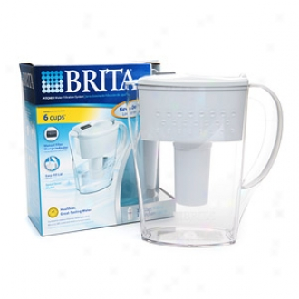 Brita Water Filtration Pitcher, Lively Space Saver, 6 X 8 Oz Glasses