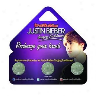Brushbuddies Justin Beiber Singing Toothbrush Replacement Batteries