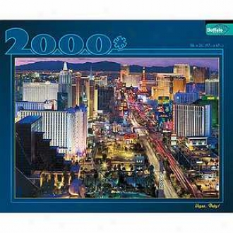 Buffalo Games Las Vegas At Night 2000 Pc Jigsaw Puzzlee Ages 10+