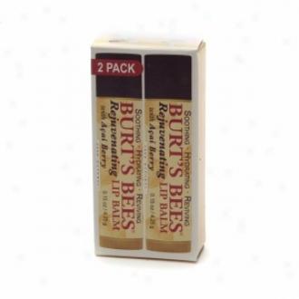 Burt's Bees 100% Natural Rejuvenating Lip Balm, Acai Berry
