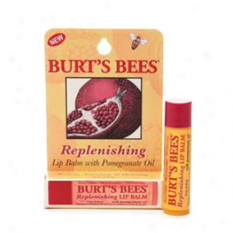 Burt's Bees 100% Natural Replenishing Lip Balm, Pomegranate Oil