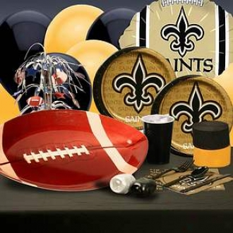 Buyseasons Costumes New Orleans Saints Deluxe Party Kit (8 Guests)