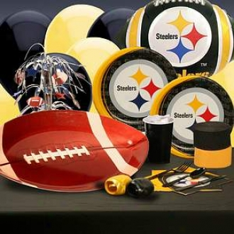 Buyseasons Costumes Pitsburgh Steelers Deluxe Party Kit (8 Guests)