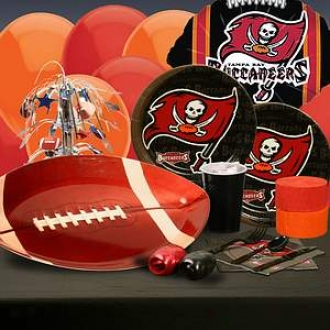 Buyseasons Costumes Tampa Bay Buccaneers Deluxe Party Kit (8 Guests)