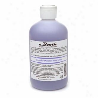 C. Booth Mineral Bath Soak, Lavender