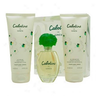 Cabotine By Parfums Gres Set-edt Spray 3.4 Oz Body Lotion 6.7 Oz Shower Gel 6.7 Oz