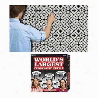 Cadaco World]s Largest Crossword Puzzle Ages 12 And Up