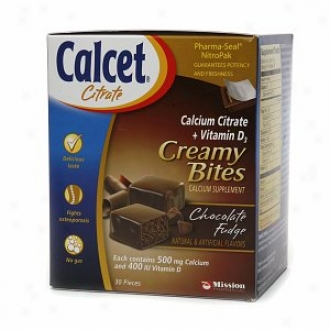 Calcet Creamy Bites Calcium Supply, Chocolate Fudge