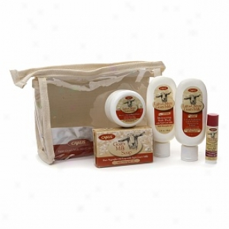 Canus Goat&0#39;s Milk All Natural Trial Size Gift Set, With Marigold Oil