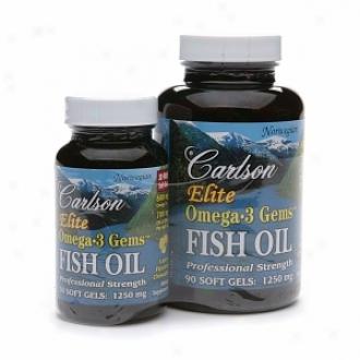 Carlson Elite Omega-3 Gems Fish Oil, 1250mg, Value Pack